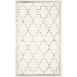 Safavieh Amherst Katie Ivory / Light Grey 8 ft. x 10 ft. Indoor/Outdoor Area Rug