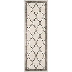 Safavieh Amherst Katie Ivory / Grey 2 ft. 3 inch x 11 ft. Indoor/Outdoor Runner