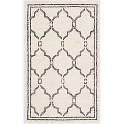 Safavieh Amherst Katie Ivory / Grey 2 ft. 6 inch x 4 ft. Indoor/Outdoor Area Rug