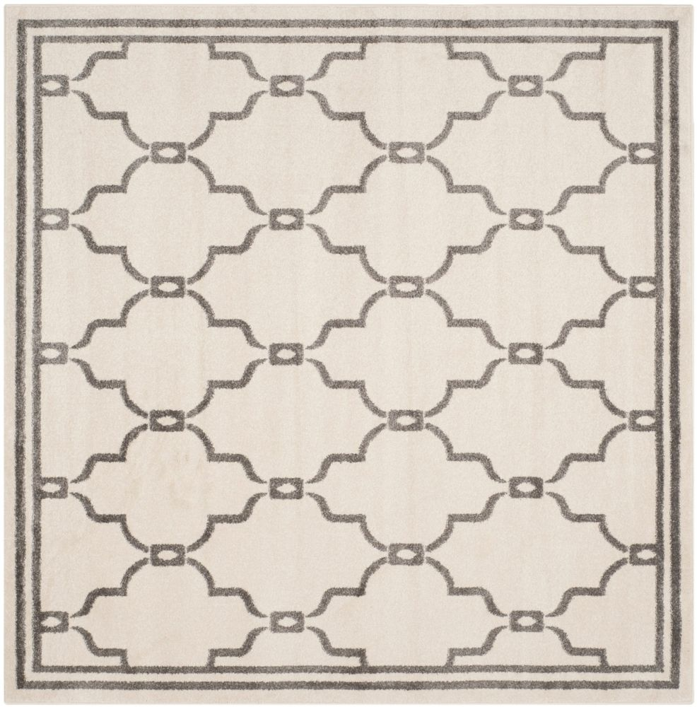 Safavieh Amherst Katie Ivory / Grey 5 ft. x 5 ft. Indoor/Outdoor Square Area Rug