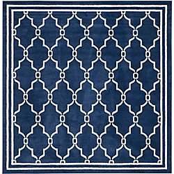 Safavieh Amherst Katie Navy / Beige 7 ft. x 7 ft. Indoor/Outdoor Square Area Rug