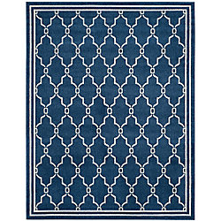 Safavieh Amherst Katie Navy / Beige 9 ft. x 12 ft. Indoor/Outdoor Area Rug