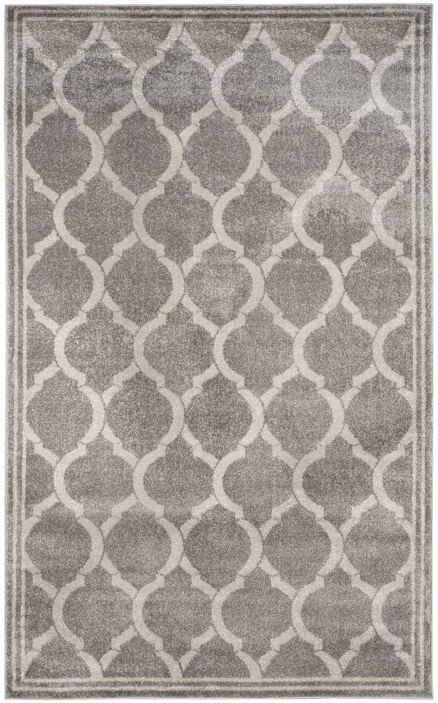 Safavieh Amherst Javier Grey / Light Grey 5 ft. x 8 ft. Indoor/Outdoor Area Rug