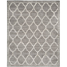 Amherst Javier Grey / Light Grey 8 ft. x 10 ft. Indoor/Outdoor Area Rug