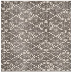 Safavieh Amherst Claire Grey / Light Grey 7 ft. x 7 ft. Indoor/Outdoor Square Area Rug
