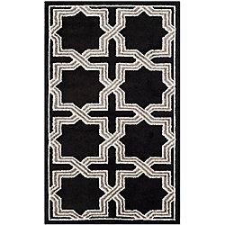 Safavieh Amherst Marist Anthracite / Grey 3 ft. x 5 ft. Indoor/Outdoor Area Rug