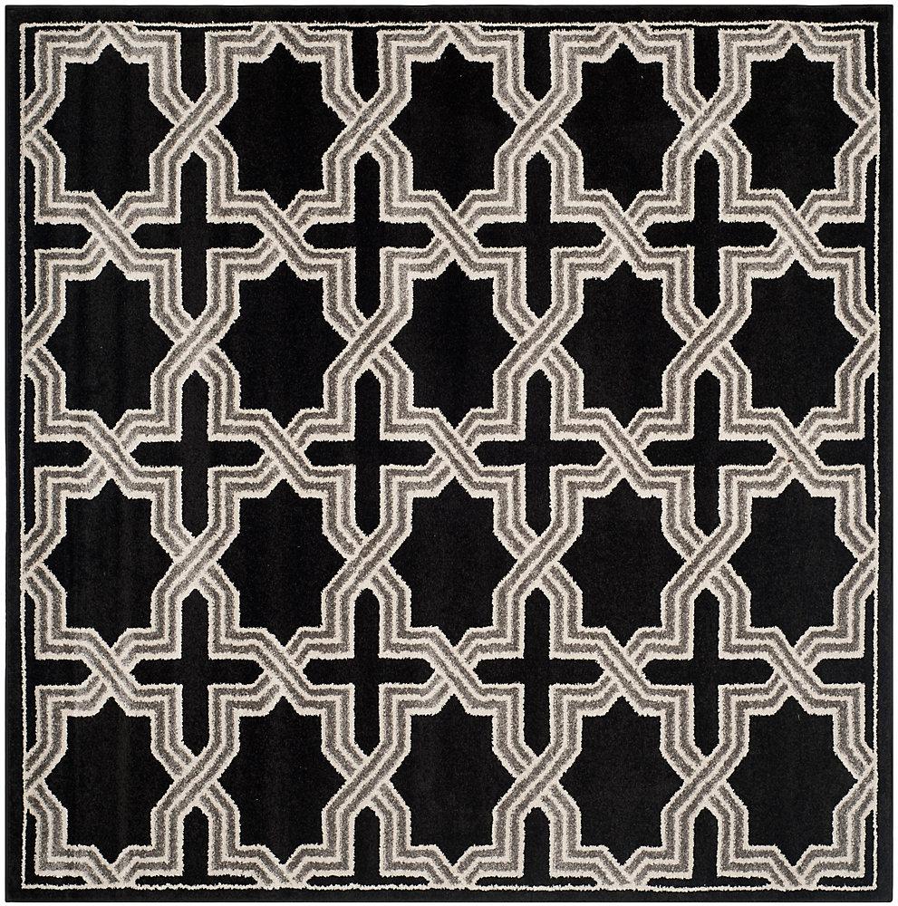 Tapis d'intérieur/extérieur carré, 7 pi x 7 pi, Amherst Marist, anthracite / gris
