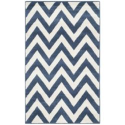 Safavieh Amherst Paula Navy / Beige 3 ft. x 5 ft. Indoor/Outdoor Area Rug