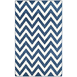Safavieh Amherst Paula Navy / Beige 4 ft. x 6 ft. Indoor/Outdoor Area Rug