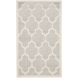 Safavieh Amherst Bradford Light Grey / Beige 2 ft. 6 inch x 4 ft. Indoor/Outdoor Area Rug