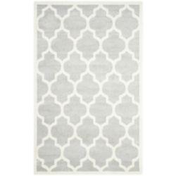 Safavieh Tapis d'intérieur/extérieur, 5 pi x 8 pi, Amherst Bradford, gris clair / beige