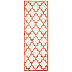 Safavieh Amherst Bradford Beige / Orange 2 ft. 3 inch x 11 ft. Indoor/Outdoor Runner
