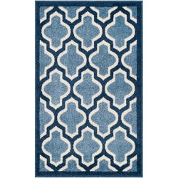 Safavieh Amherst Bradford Light Blue / Navy 2 ft. 6 inch x 4 ft. Indoor/Outdoor Area Rug
