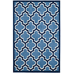 Safavieh Amherst Bradford Light Blue / Navy 5 ft. x 8 ft. Indoor/Outdoor Area Rug