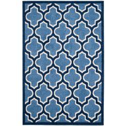 Safavieh Tapis d'intérieur/extérieur, 5 pi x 8 pi, Amherst Bradford, bleu clair / marin
