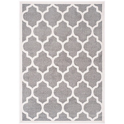 Amherst Bradford Dark Grey / Beige 4 ft. x 6 ft. Indoor/Outdoor Area Rug
