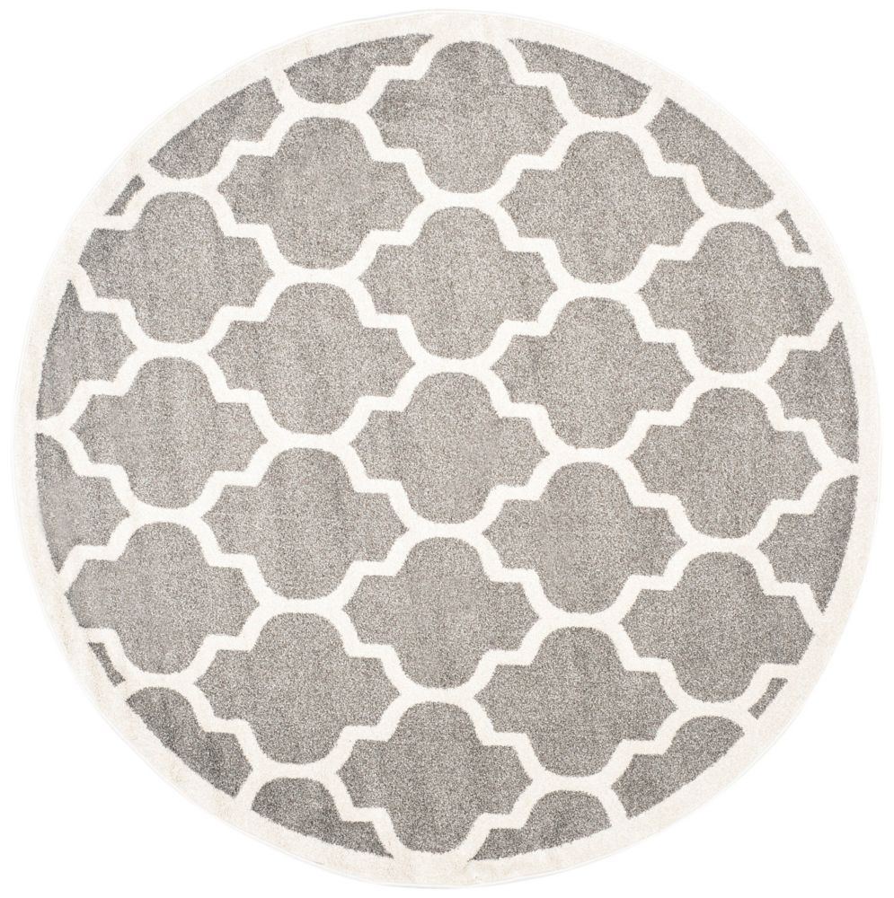 Safavieh Amherst Bradford Dark Grey / Beige 7 ft. x 7 ft. Indoor/Outdoor Round Area Rug