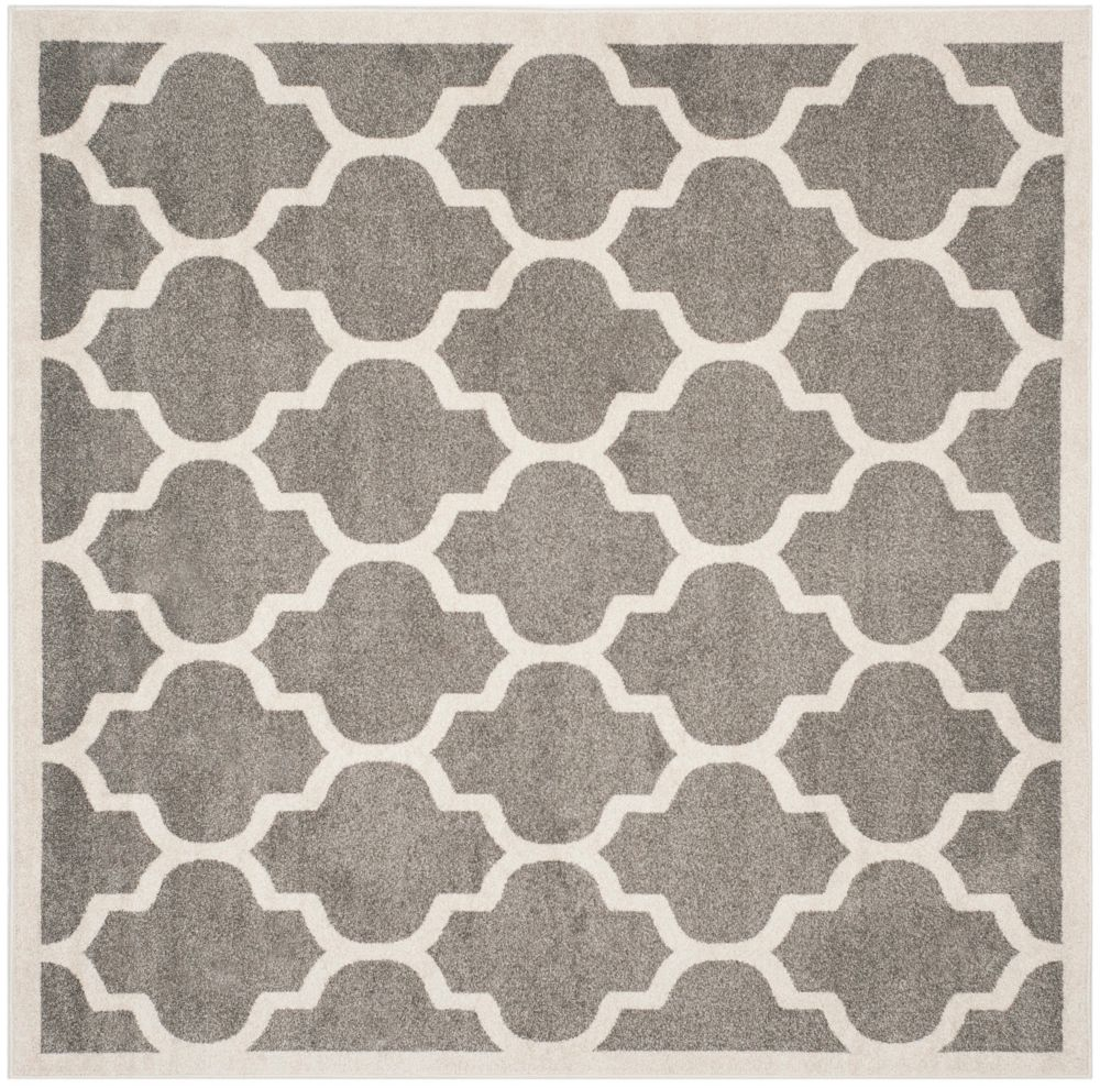 Safavieh Amherst Bradford Dark Grey / Beige 7 ft. x 7 ft. Indoor/Outdoor Square Area Rug