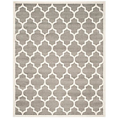 Amherst Bradford Dark Grey / Beige 8 ft. x 10 ft. Indoor/Outdoor Area Rug