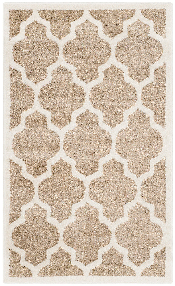 Tapis d'intérieur/extérieur, 3 pi x 5 pi, Amherst Bradford, blé / beige