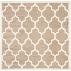 Safavieh Amherst Bradford Wheat / Beige 7 ft. x 7 ft. Indoor/Outdoor Square Area Rug