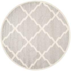 Safavieh Amherst Dina Light Grey / Beige 5 ft. x 5 ft. Indoor/Outdoor Round Area Rug