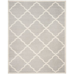 Safavieh Amherst Dina Light Grey / Beige 9 ft. x 12 ft. Indoor/Outdoor Area Rug