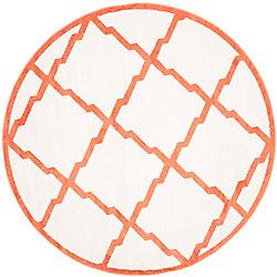 Safavieh Amherst Dina Beige / Orange 7 ft. x 7 ft. Indoor/Outdoor Round Area Rug