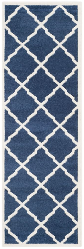 Safavieh Amherst Dina Navy / Beige 2 ft. 3 inch x 7 ft. Indoor/Outdoor Runner