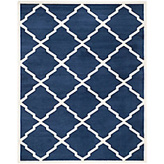 Amherst Dina Navy / Beige 9 ft. x 12 ft. Indoor/Outdoor Area Rug