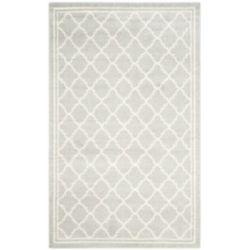 Safavieh Tapis d'intérieur/extérieur, 6 pi x 9 pi, Amherst Blanche, gris clair / beige