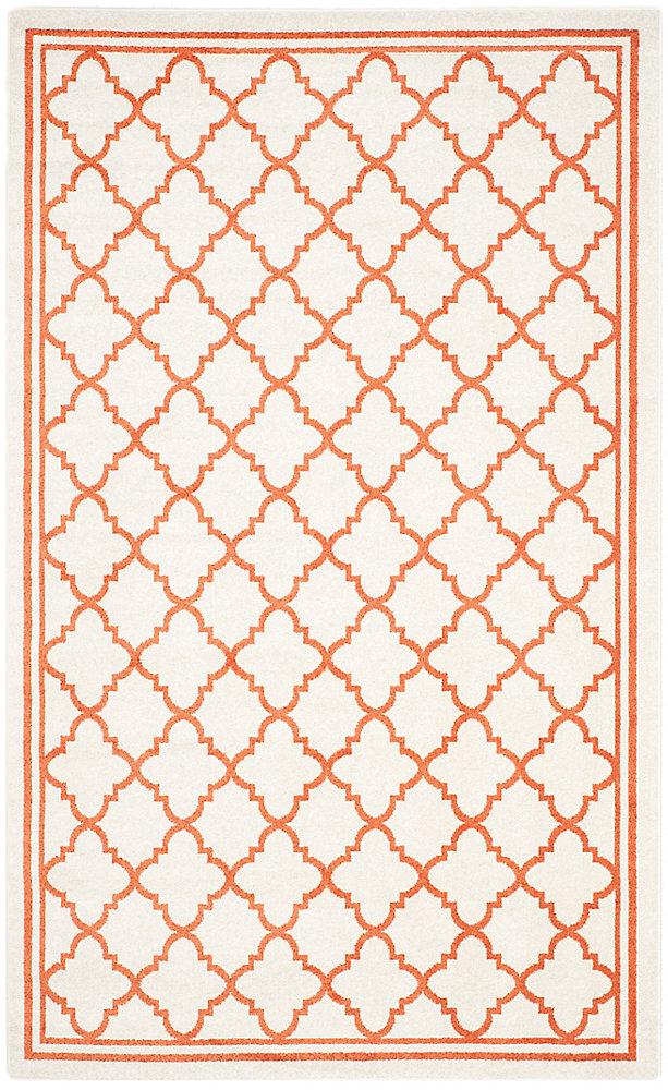 Amherst Blanche Beige / Orange 4 ft. x 6 ft. Indoor/Outdoor Area Rug