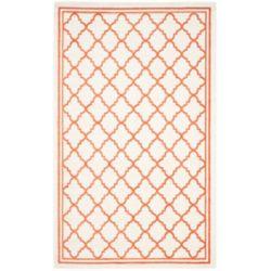 Safavieh Tapis d'intérieur/extérieur, 6 pi x 9 pi, Amherst Blanche, beige / orange