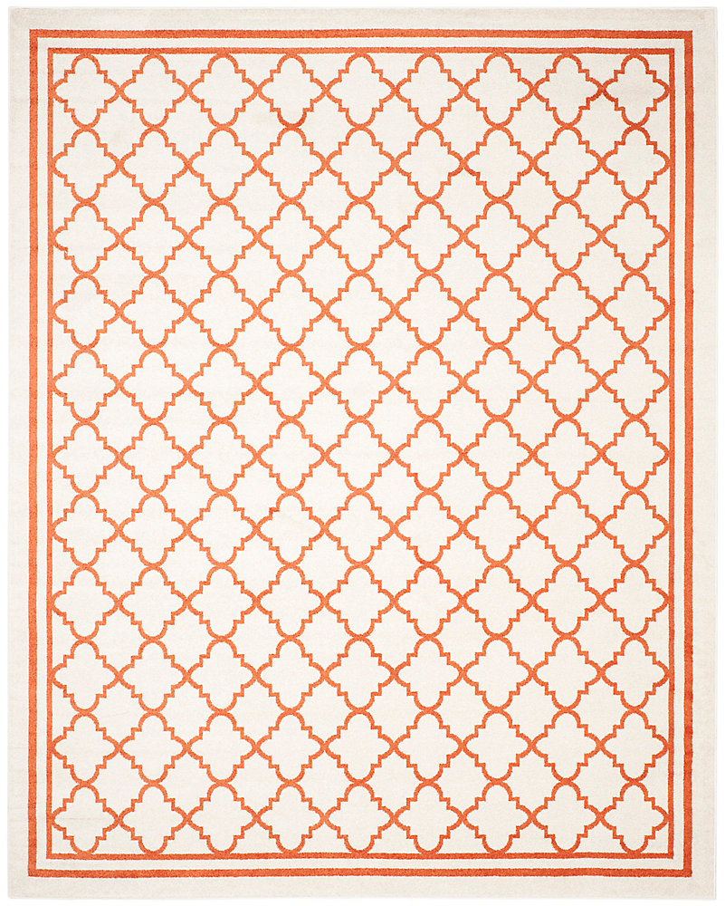 Amherst Blanche Beige / Orange 8 ft. x 10 ft. Indoor/Outdoor Area Rug