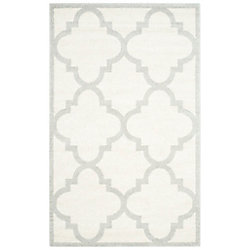 Safavieh Amherst Aidan Beige / Light Grey 4 ft. x 6 ft. Indoor/Outdoor Area Rug