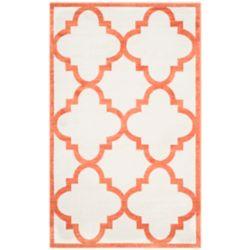 Safavieh Tapis d'intérieur/extérieur, 4 pi x 6 pi, Amherst Aidan, beige / orange