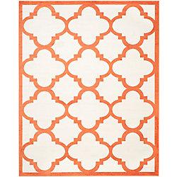 Safavieh Amherst Aidan Beige / Orange 8 ft. x 10 ft. Indoor/Outdoor Area Rug
