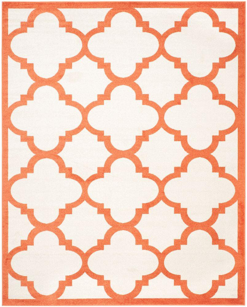 Safavieh Amherst Aidan Beige / Orange 9 ft. x 12 ft. Indoor/Outdoor Area Rug