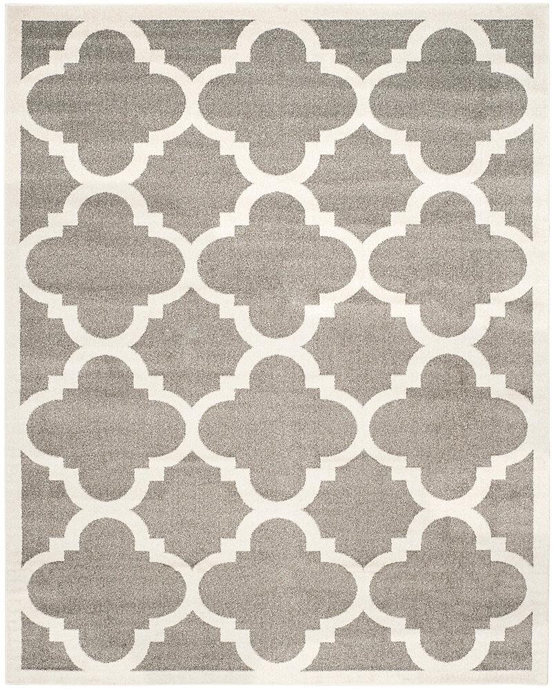 Tapis d'intérieur/extérieur, 9 pi x 12 pi, Amherst Aidan, dark gris / beige