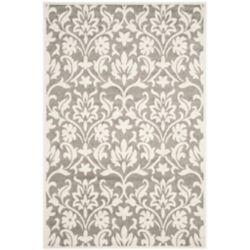 Safavieh Tapis d'intérieur/extérieur, 5 pi x 8 pi, Amherst Seth, dark gris / beige