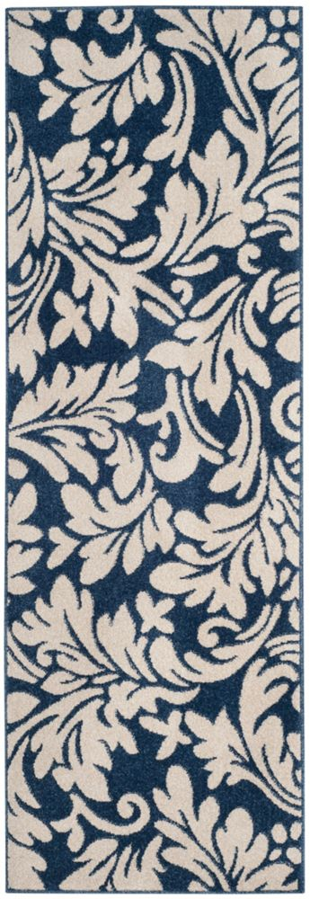 Safavieh Amherst Chase Navy / Ivory 2 ft. 3 inch x 7 ft. Indoor/Outdoor Runner