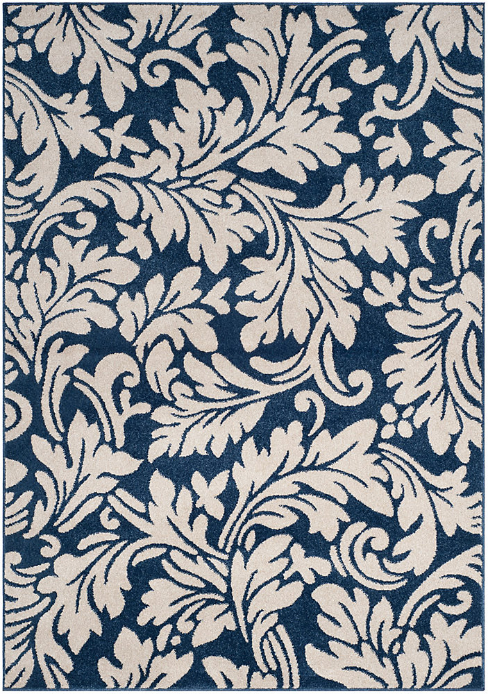 Amherst Chase Navy / Ivory 5 ft. x 8 ft. Indoor/Outdoor Area Rug