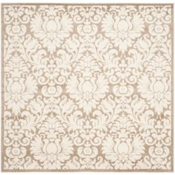 Safavieh Amherst Rudy Wheat / Beige 7 ft. x 7 ft. Indoor/Outdoor Square Area Rug