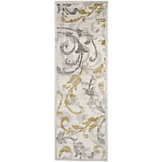 Amherst Elaine Ivory / Light Grey 2 ft. 3 inch x 7 ft. Indoor/Outdoor Runner