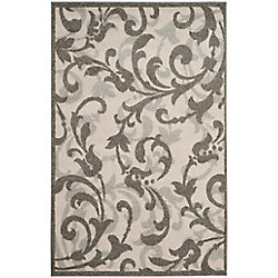 Safavieh Amherst Elaine Ivory / Grey 4 ft. x 6 ft. Indoor/Outdoor Area Rug