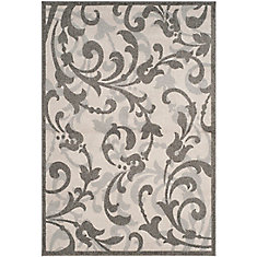 Amherst Elaine Ivory / Grey 5 ft. x 8 ft. Indoor/Outdoor Area Rug