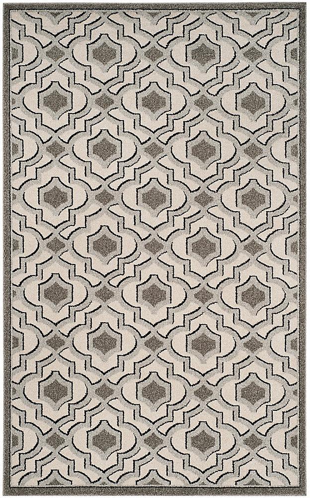 Amherst Nash Ivory / Grey 5 ft. x 8 ft. Indoor/Outdoor Area Rug