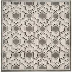Safavieh Amherst Nash Ivory / Grey 7 ft. x 7 ft. Indoor/Outdoor Square Area Rug