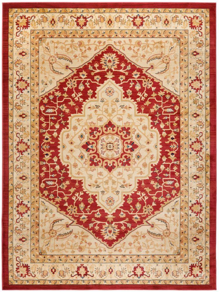 Safavieh Austin Sutton Red / Cream 5 ft. 3 inch x 7 ft. 6 inch Indoor Area Rug
