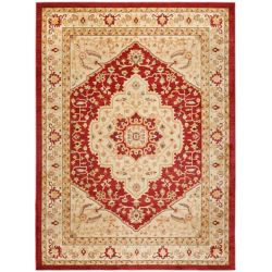 Safavieh Austin Sutton Red / Cream 6 ft. 7 inch x 9 ft. 1 inch Indoor Area Rug